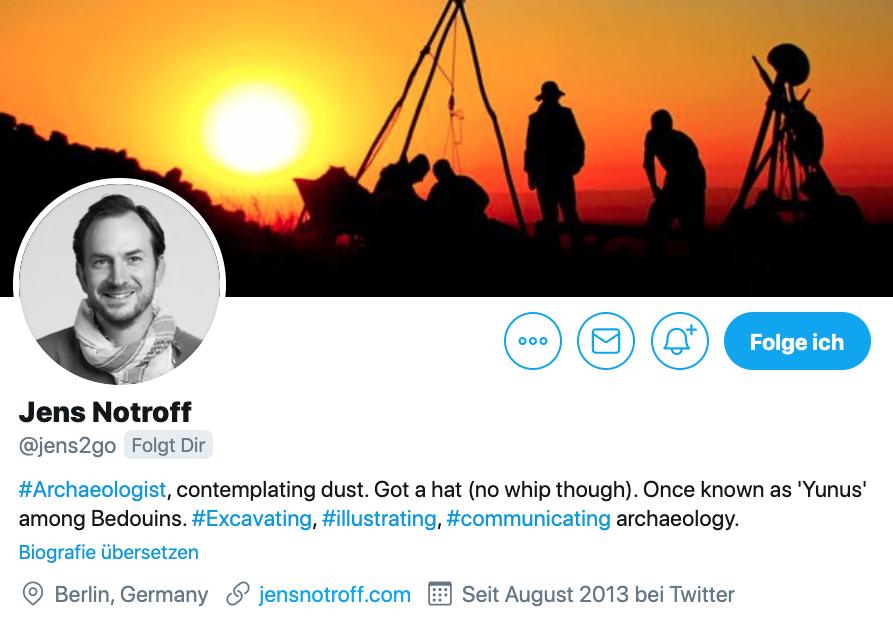 Twitter-Biografie von Jens Notroff