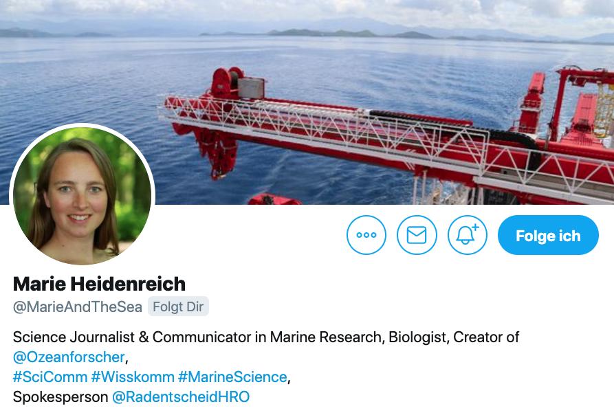 Twitter-Biografie von Marie Heidenreich
