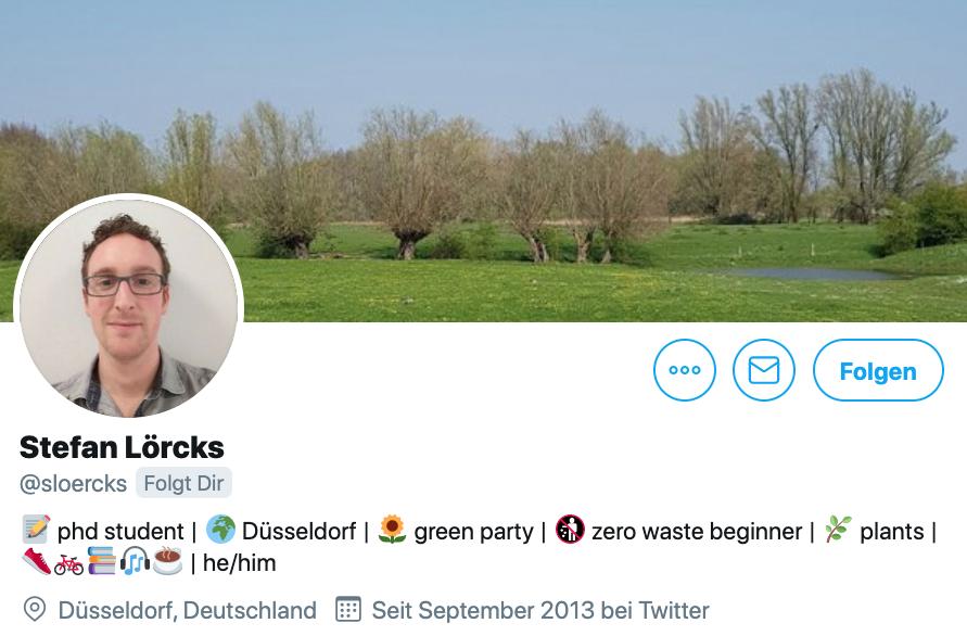 Twitter-Biografie von Stefan Lörcks