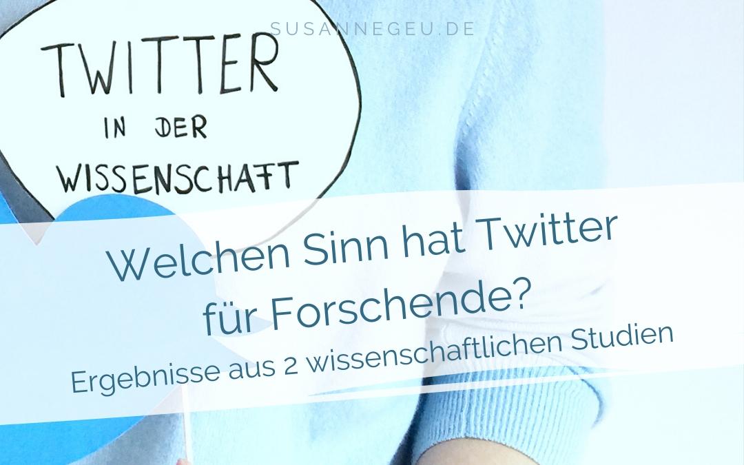 """Beitragsbild für den Artikel """"Welchen Sinn hat Twitter für Forschende"""""""